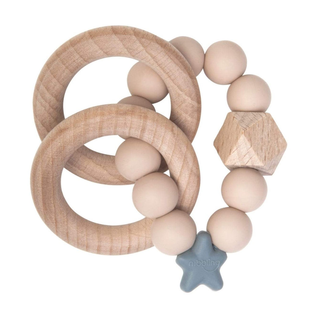 Nibbling Stellar Natural Wood Teething Toy – oat, Little Baby Shop Ltd.