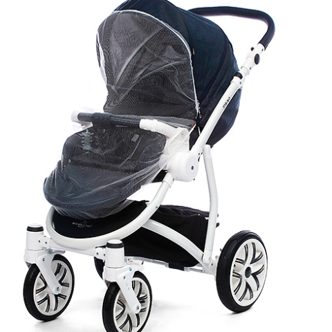 Universal mosquito net for prams, strollers and cribs