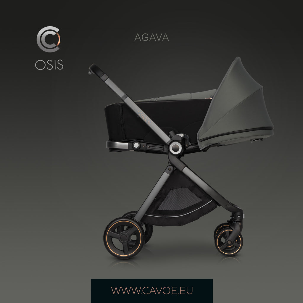 Osis by Cavoe Soft Carrycot - agava, Little Baby Shop Ltd.