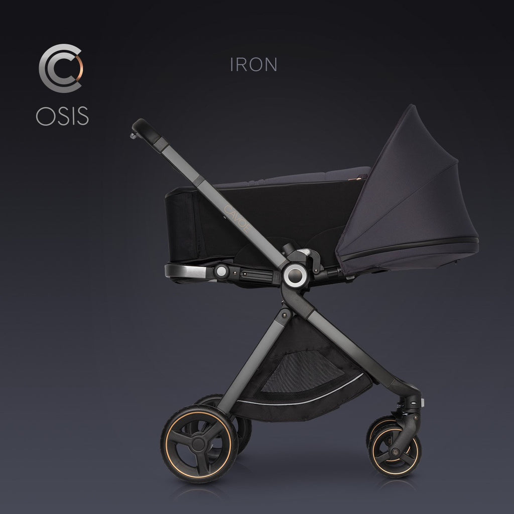 Osis by Cavoe Soft Carrycot - iron, Little Baby Shop Ltd.