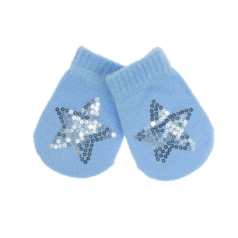 Mittens with Star Sequins - blue, Little Baby Shop Ltd.