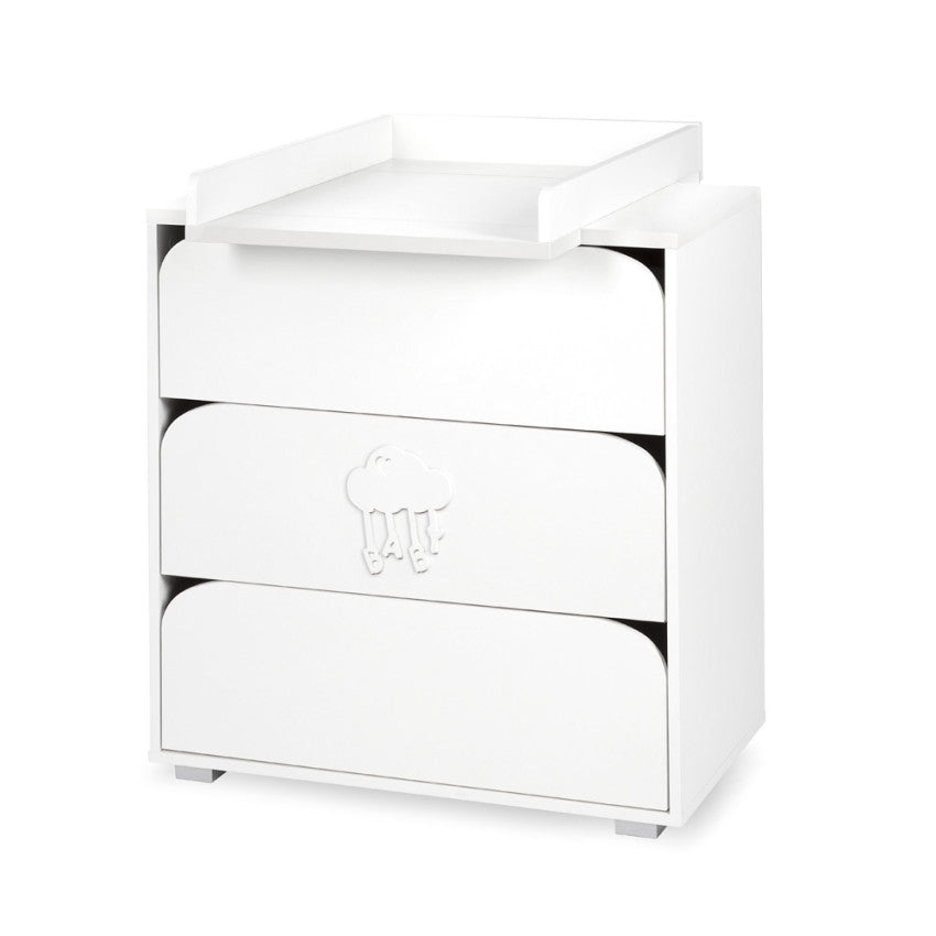 Nel chest of drawers with changing tray - cloud - Little Baby Shop -