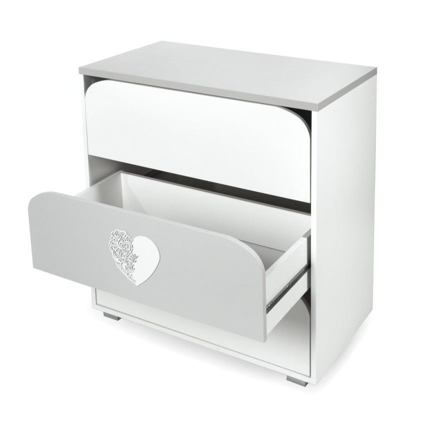NATALIE chest of drawers with changing tray - heart, Little Baby Shop Ltd.