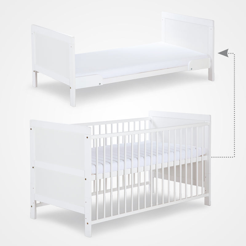DALIA Grey cot-bed with storage - Little Baby Shop -