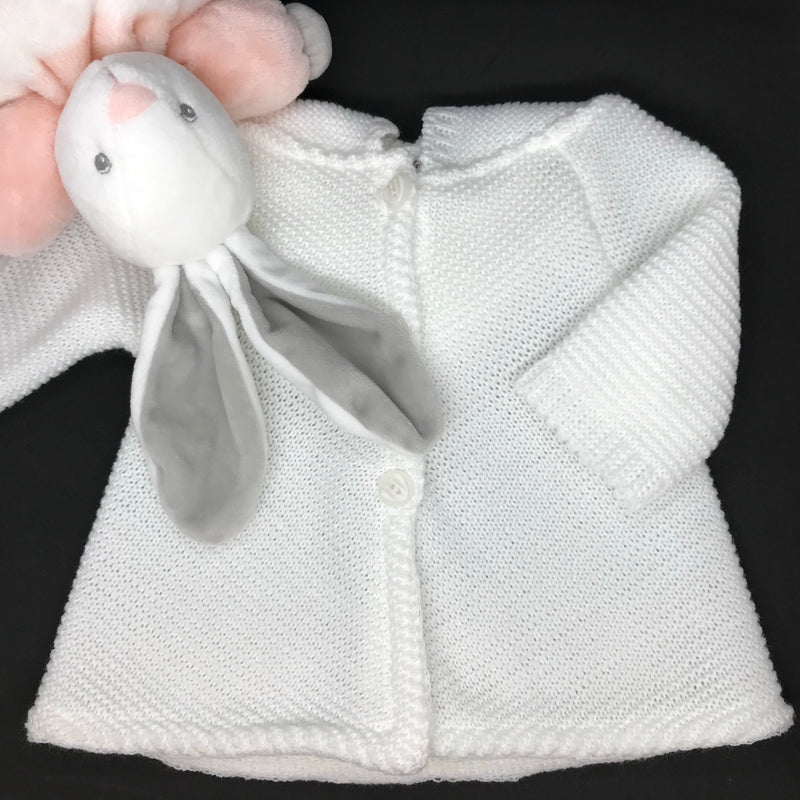 White hoodie/cardigan - Little Baby Shop -