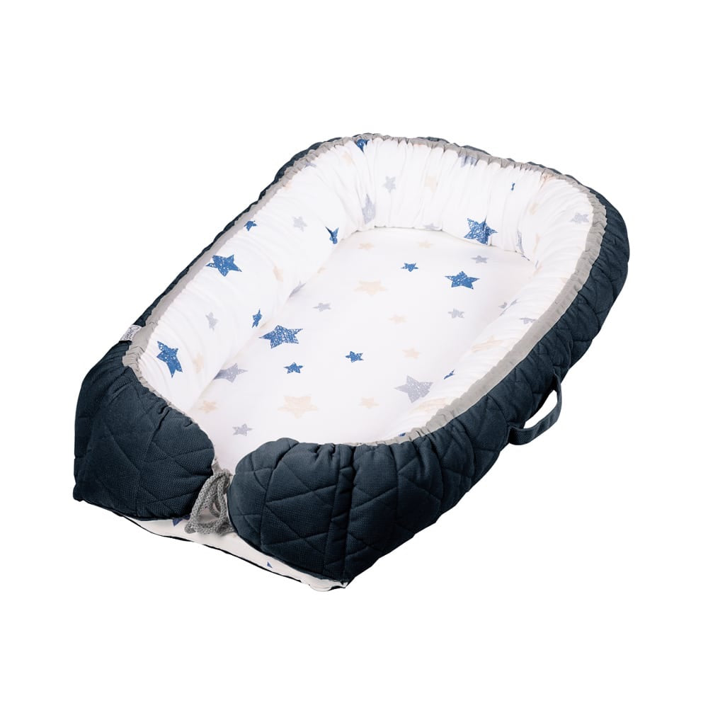 Baby Nest/Sleeping Pod - navy/stars - Little Baby Shop -