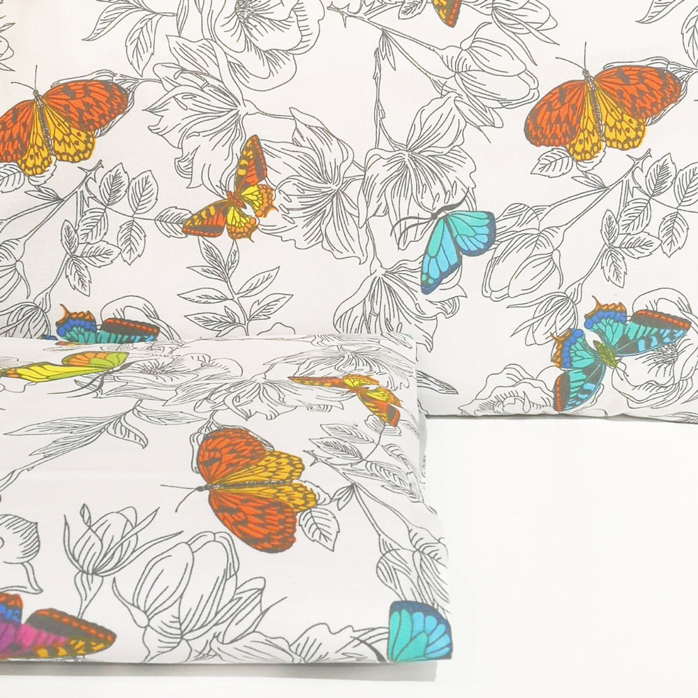 Cot bedding set - butterflies