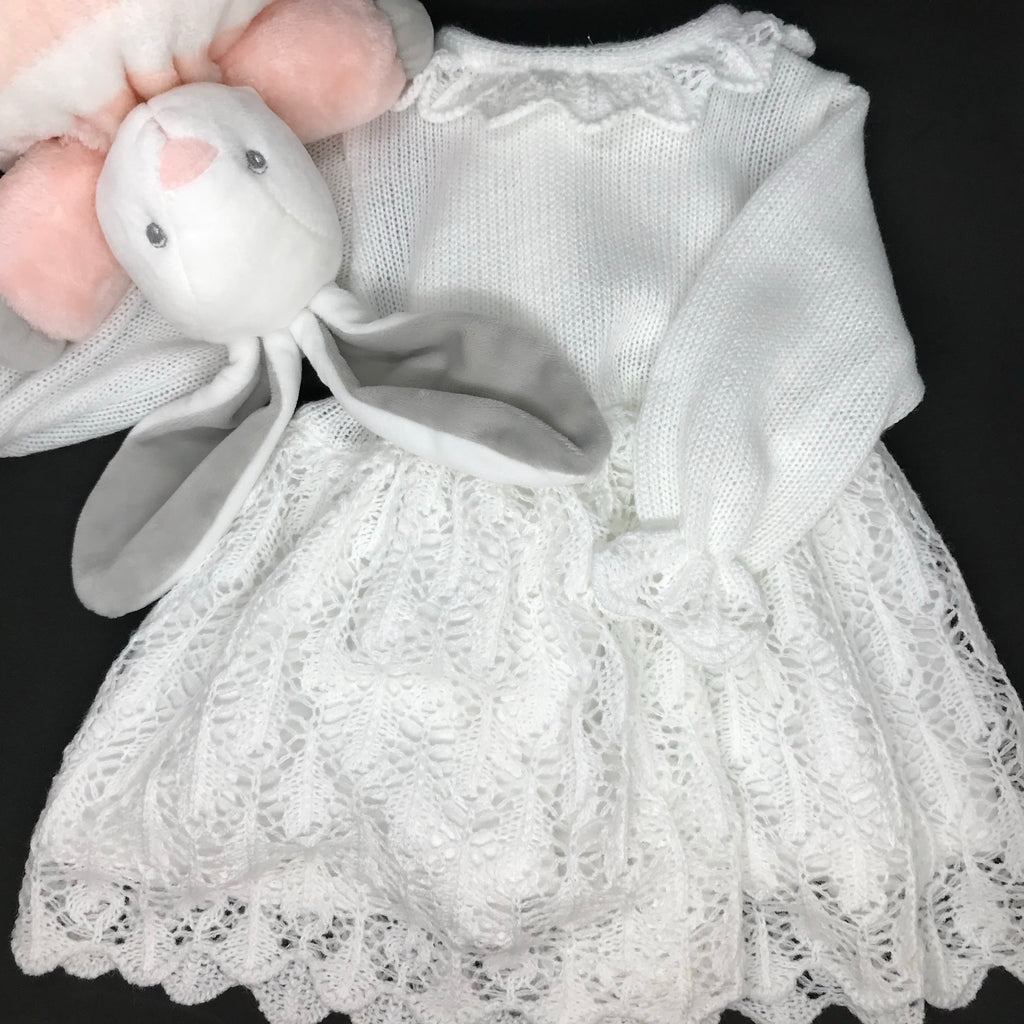 White Dress with Knitted Hat, Little Baby Shop Ltd.