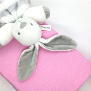 Fitted cotton cot sheet - pink - Little Baby Shop -