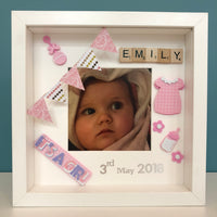 Baby Girl Frame - birthdate, Little Baby Shop Ltd.