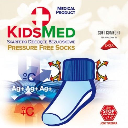 KidsMED Pressure Free Socks - white, Little Baby Shop Ltd.