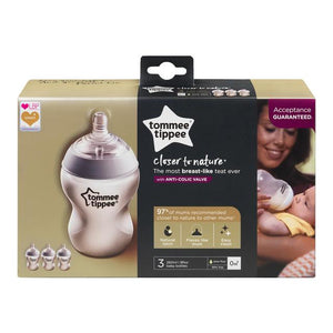Tommee Tippee Closer to Nature Bottles 260ml 3 Pack - Little Baby Shop -