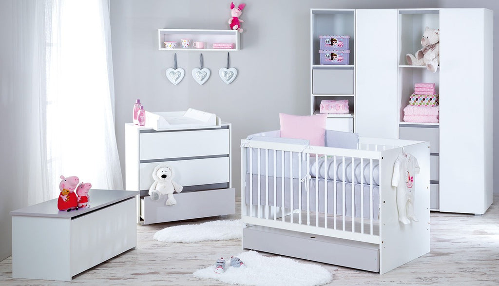 Dalia Grey chest of drawers with changing tray - Little Baby Shop -