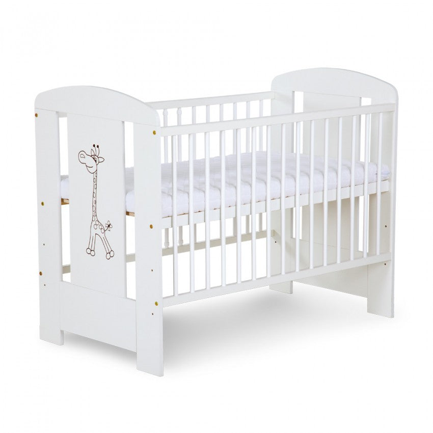 SAFARI GIRAFFE cot - white - Little Baby Shop -