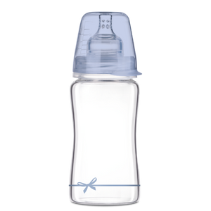 LOVI Diamond Glass Bottle - Boy Baby Shower 250 ml - Little Baby Shop -