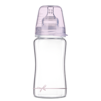 LOVI Diamond Glass Bottle - Girl Baby Shower 250ml - Little Baby Shop -
