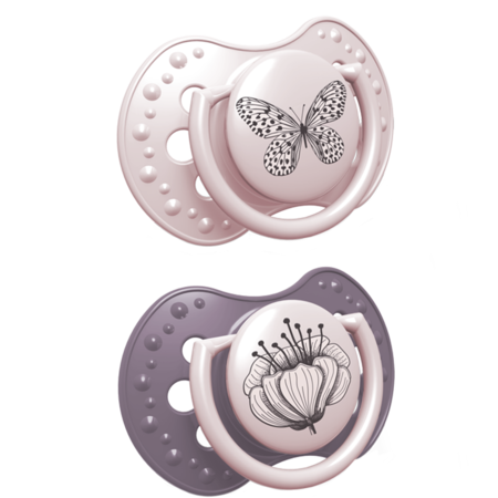 LOVI Silicone Dynamic Soother (Botanic Girl) 0-3m, Little Baby Shop Ltd.