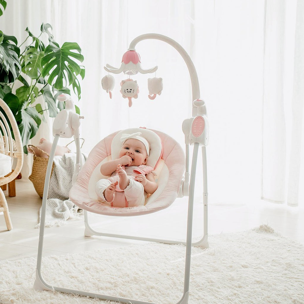 Baby swing ROBIN - pink
