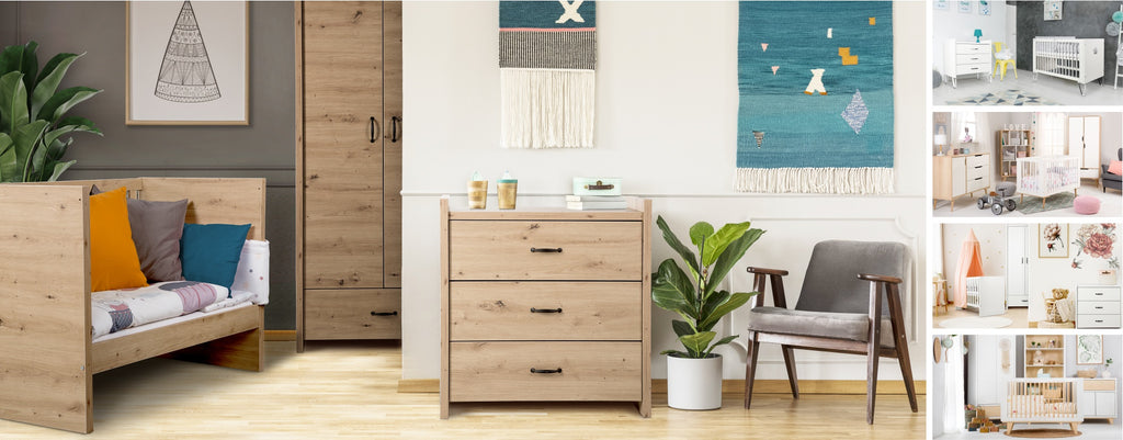 Amelia chest of drawers - oak - Little Baby Shop -