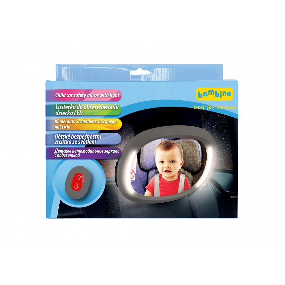 Child Car Safety Mirror with LED - Little Baby Shop -