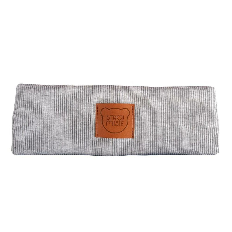 Organic Headband with Decorative Knot - grey