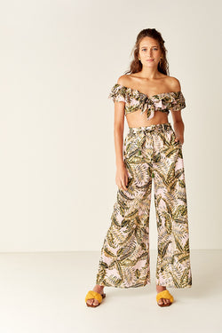 PALMA Ruffled Crop Top