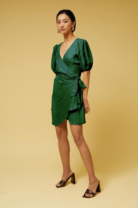 Ilya Wrap Dress - Green *PRE-ORDER*