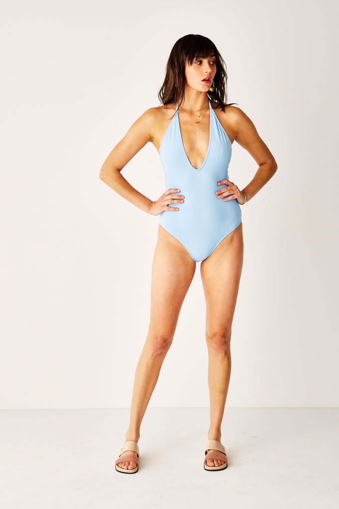 Terry Blue Scoop One Piece