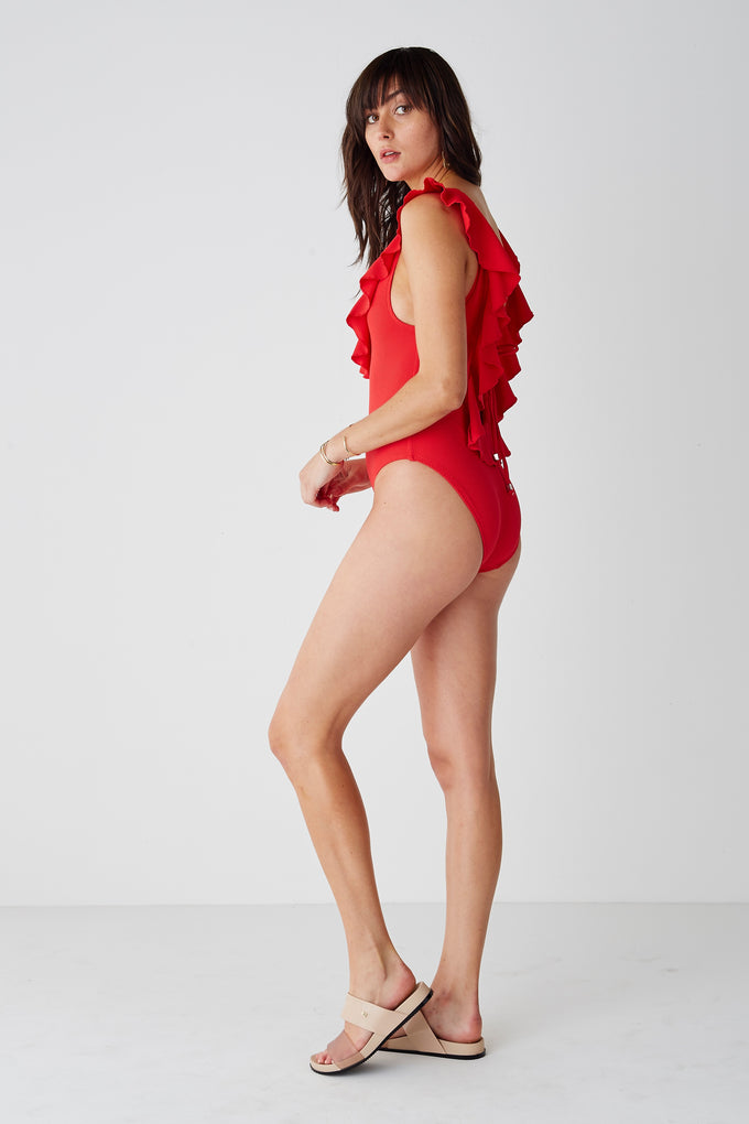 The Chase Frill Scoop One Piece