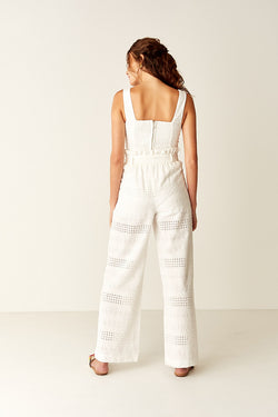 Paperbag Pants - WHITE