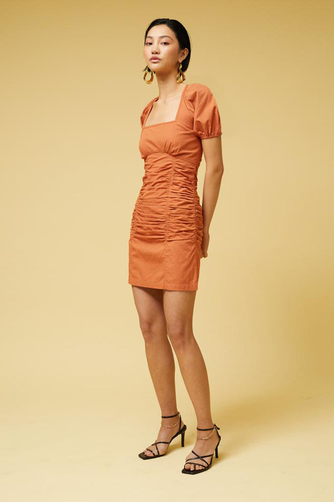 Saga Mini Dress - Rust