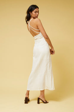 Kaia Backless Top - White