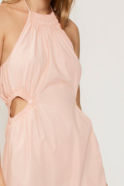 Eden Halter Neck Maxi Dress - Pink