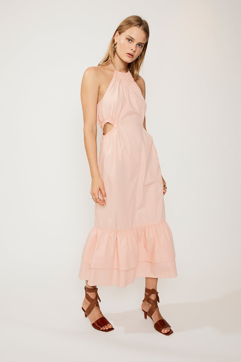 Suboo Eden Halter Neck Maxi Dress - Pink