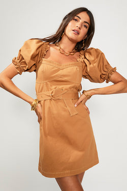 SUBOO Iman Balloon Sleeve Mini Dress