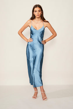 Jean Tie Slip Dress