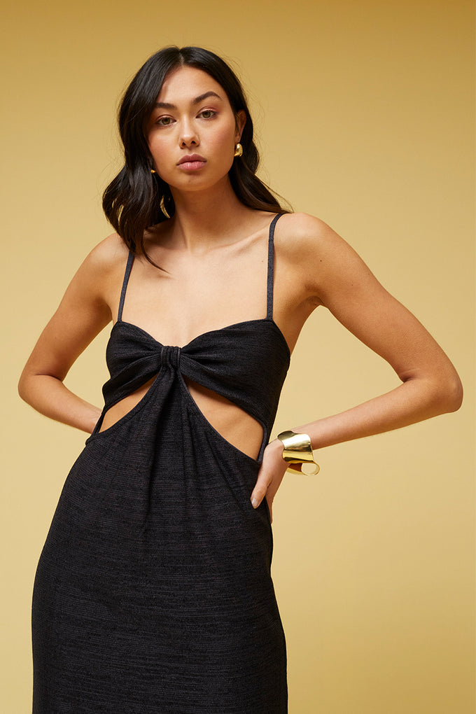 Dominique Cut Out Midi Dress