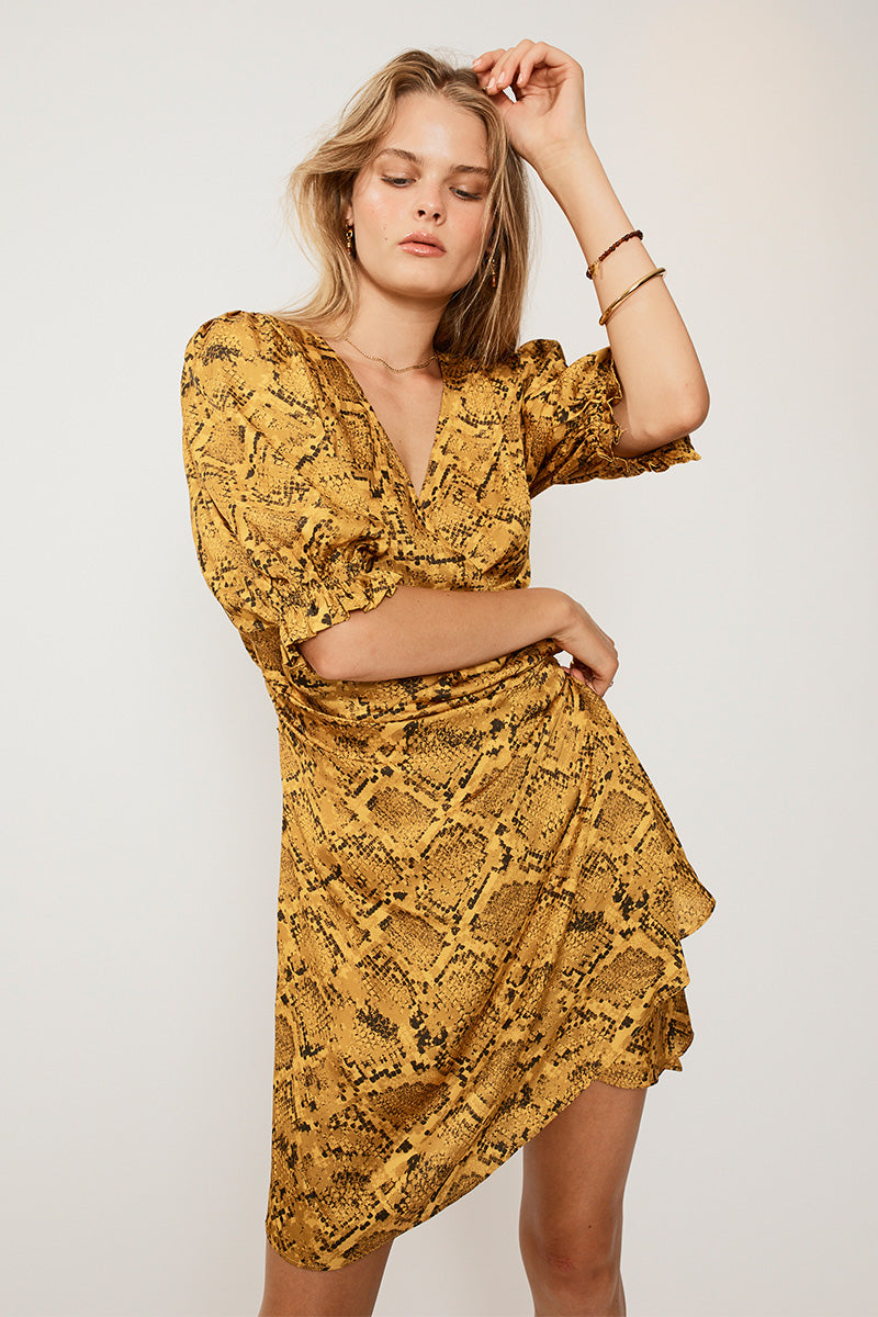 SUBOO Rae Mini Wrap Dress