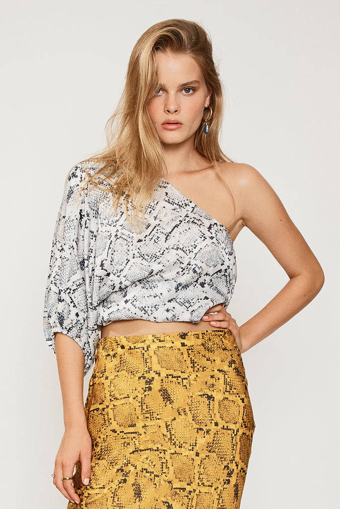 SUBOO Rosetti One Shoulder Top