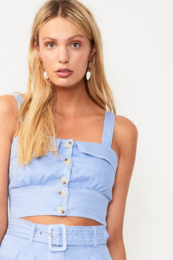 Azure Crop Top - Blue