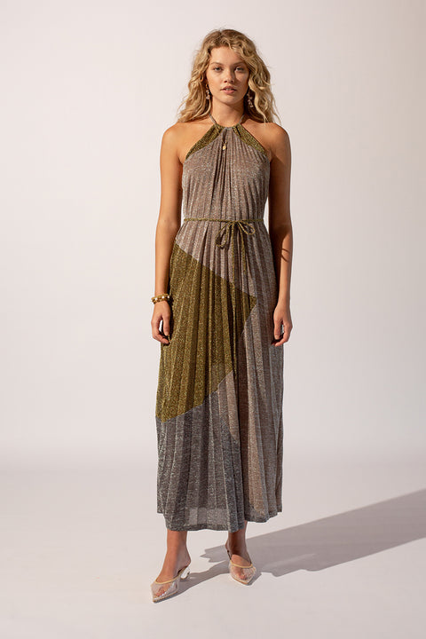 Luna Pleat Maxi Dress
