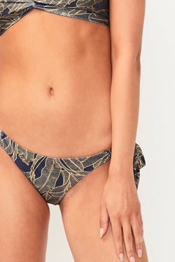 Zephora Tie Side Slim Bottoms - Zephora Print
