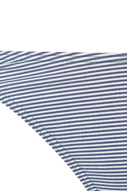 Shoreline Ring Side High Cut Bottoms - Navy/Wht Stripe