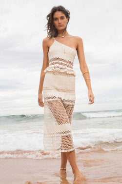 Stella One Shoulder Crochet Top