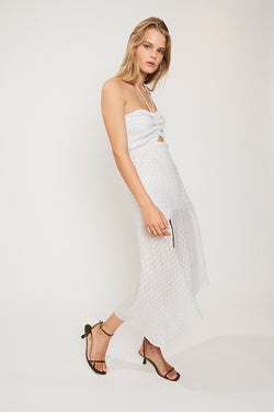 Verse Shirred Strapless Dress