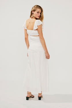 Alva Rouched Cut Out Maxi-Ivory