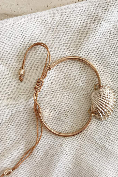 Bella Fan Shell Bracelet - Gold