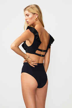 Chi Chi Bonded High Waisted Bottom - Black