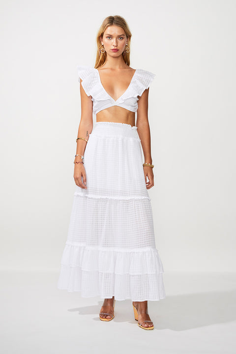 The Crossing Maxi Skirt - Ivory