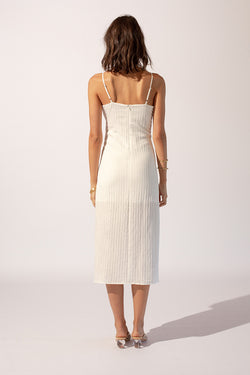 Cruz Gathered Slip Dress